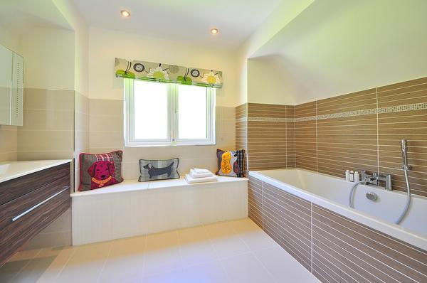 Ładna i funkcjonalna łazienka